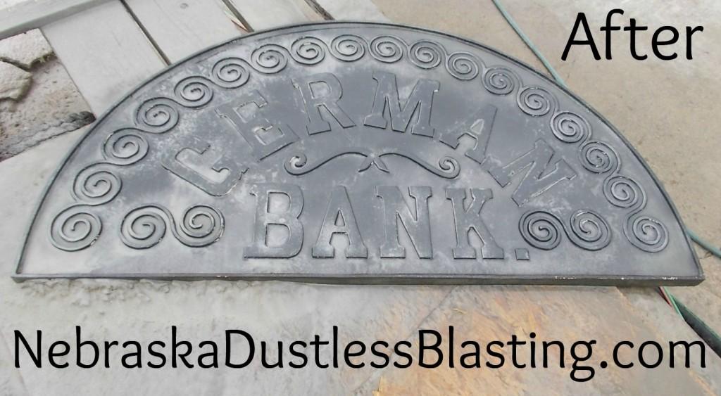 Bruning Bank Sign After Blasting